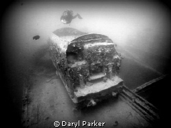 train on the thistlegorm with diver by Daryl Parker 